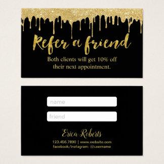 Goldbratenfett-Salon der Empfehlungs-Karten-| Visitenkarte