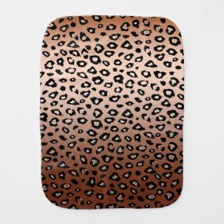 Goldbronzeleopard-Druck Baby Spucktuch