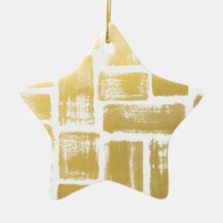 Goldbrushstroke-Aquarell-Streifen Keramik Ornament