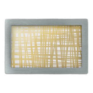 Goldbrushstroke-Aquarell-Streifen Rechteckige Gürtelschnallen