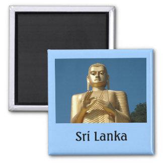 Goldbuddha-Bild Quadratischer Magnet