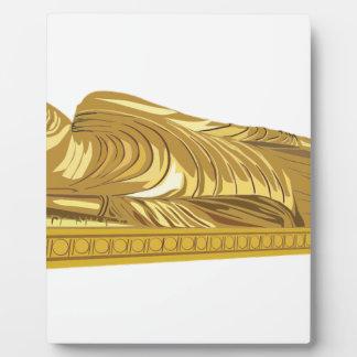 Goldbuddha-Statue-Niederlegung Fotoplatte