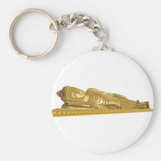 Goldbuddha-Statue-Niederlegung Schlüsselanhänger