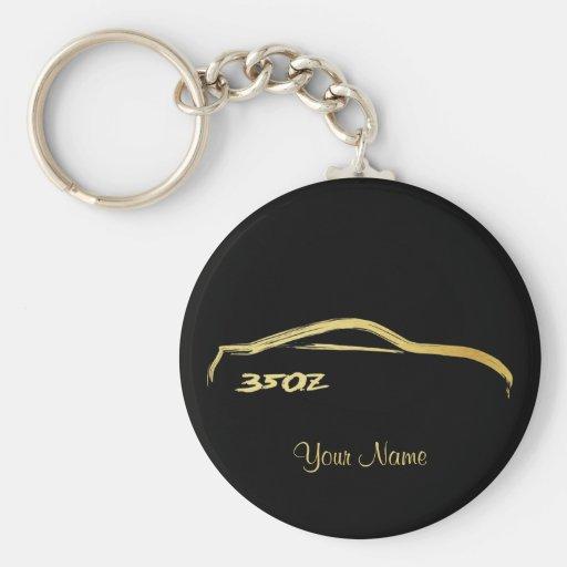 Goldbürsten-Anschlag Logo Nissans 350Z Schlüsselband