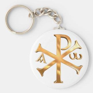 Goldc$chi-rho Schlüsselanhänger
