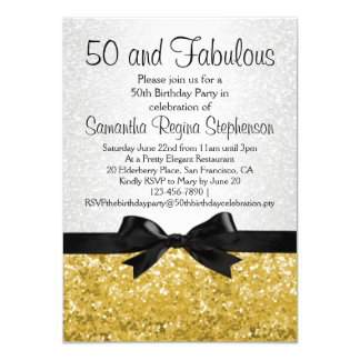 Goldc$schein-blick Bogen-50. Geburtstags-Party Personalisierte Einladung