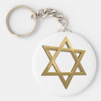 Goldchanukkah Davidsstern Schlüsselanhänger