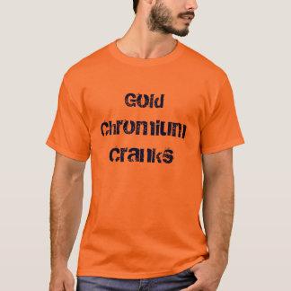 Goldchrom kurbelt T - Shirt an