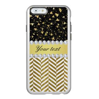 Goldconfetti-Dreieck-Sparren-Diamant Bling Incipio Feather® Shine iPhone 6 Hülle