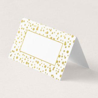 Goldconfetti-Hochzeit gefaltete Platzkarten Platzkarte