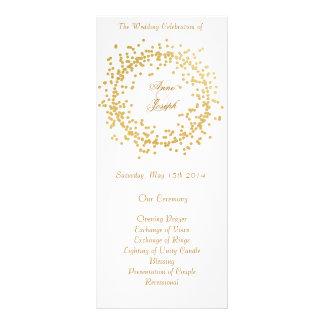 Goldconfetti-Hochzeitsprogramm II Werbekarte