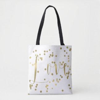 Goldconfetti-Liebe Tasche