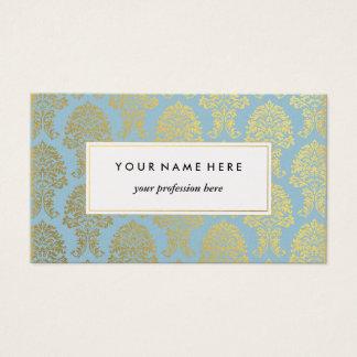 Golddamast auf hellblauer Muster-Visitenkarte Visitenkarte