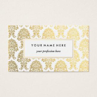 Golddamast-Muster-Visitenkarte-Schablone Visitenkarte