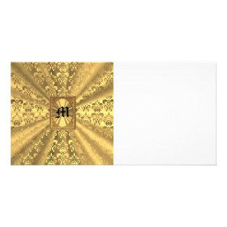 Golddamast Photokartenvorlage