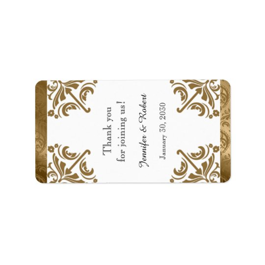Golddamast-Silk vornehmer Adressaufkleber