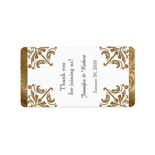 Golddamast-Silk vornehmer Adressetiketten
