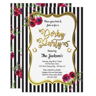 Goldderby-Pferdelaufen Party Einladungen