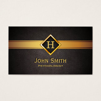 Golddiamant-Aufkleber-Psychologe-Visitenkarte Visitenkarte