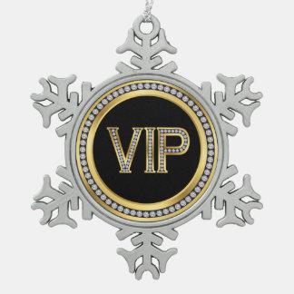 Golddiamant VIP-Weihnachten Schneeflocken Zinn-Ornament