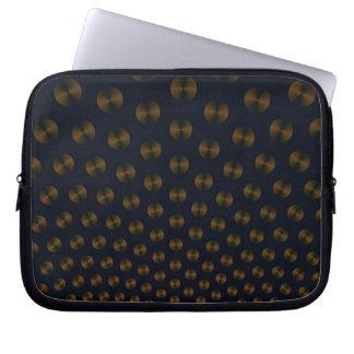 GoldDisc auf blauer Laptop-Hülse Laptopschutzhülle