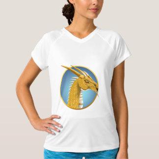 Golddrache-Gesichts-Shirt T-Shirt