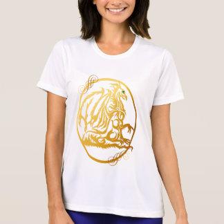 Golddrache-Oval-Shirts T-Shirt
