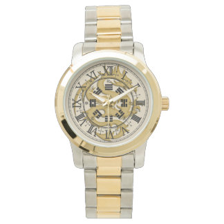 Golddrache-übergroße Unisexuhr Armbanduhr