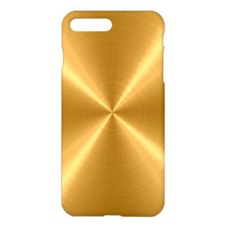 GoldEdelstahl-Metall iPhone 8 Plus/7 Plus Hülle