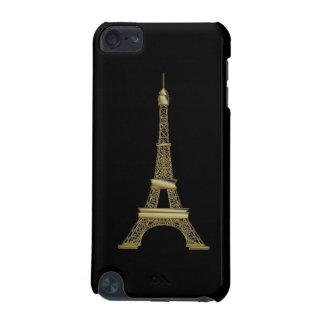 Goldeiffel-Turms französischer schwarzer Kasten iPod Touch 5G Hülle