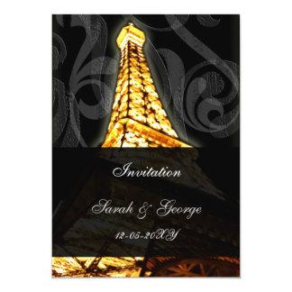 GoldEiffelturm Paris-Hochzeitseinladung 12,7 X 17,8 Cm Einladungskarte