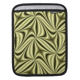 Goldeile-Hologramm-Fraktal iPad Sleeve