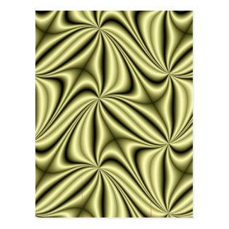 Goldeile-Hologramm-Fraktal Postkarte
