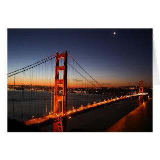 Golden gate bridge am Sonnenaufgang Karte