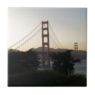 Golden gate bridge am Sonnenuntergang Fliese