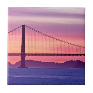 Golden gate bridge am Sonnenuntergang Fliese