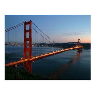 Golden gate bridge am Sonnenuntergang Postkarte