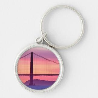 Golden gate bridge am Sonnenuntergang Schlüsselanhänger