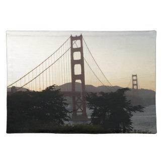 Golden gate bridge am Sonnenuntergang Tischset