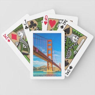 Golden gate bridge-Fahrrad-Spielkarten Bicycle Spielkarten