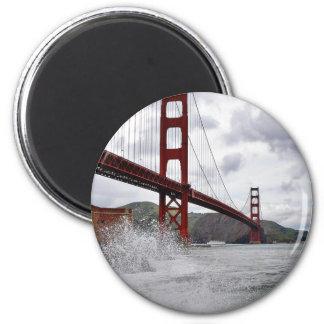 Golden gate bridge in San Francisco gesehen vom Runder Magnet 5,1 Cm