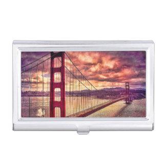 Golden gate bridge in San Francisco, Kalifornien Visitenkarten Dose