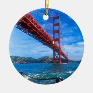 Golden gate bridge, Kalifornien Rundes Keramik Ornament