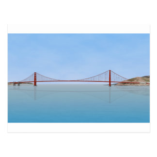 Golden gate bridge: Modell 3D: Postkarte