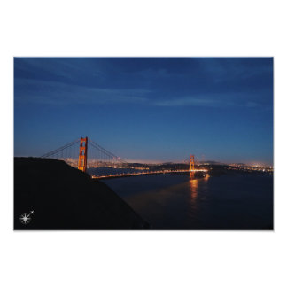 Golden Gate Bridge Night Poster