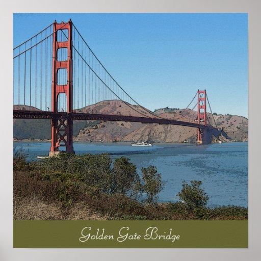 Golden gate bridge plakatdrucke