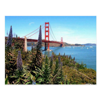 Golden gate bridge postkarte