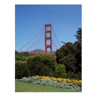 Golden gate bridge-Postkarte Postkarte