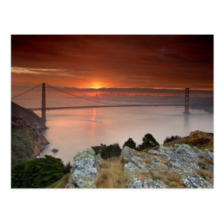 Golden gate bridge-Postkarte Postkarte