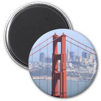 Golden gate bridge runder magnet 5,7 cm